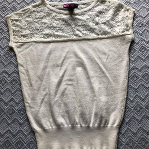 2 for $7 Ivory Lace Top. Size Small